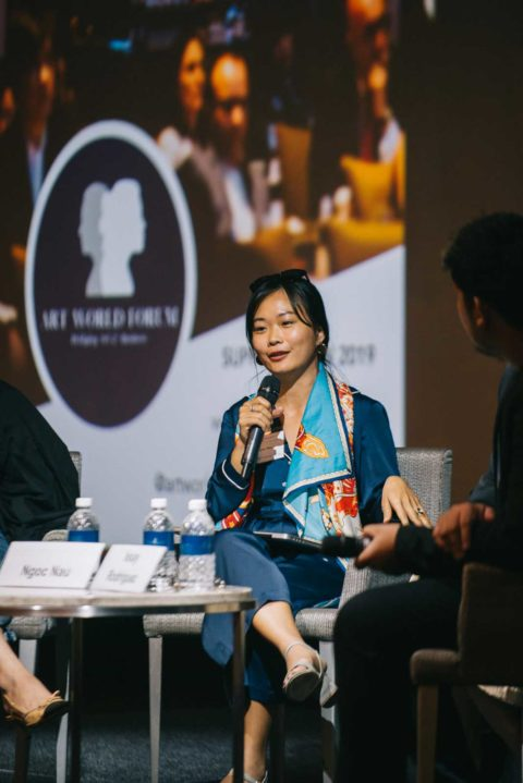 Art-World-Forum-Singapore-2018-Sustainability-Lisa Polten, Kay Vasey, Ngoc nau art world forum - AWF Sing 2018 Ngoc 480x719 - International Platform for Collectors and Art Business Professionals
